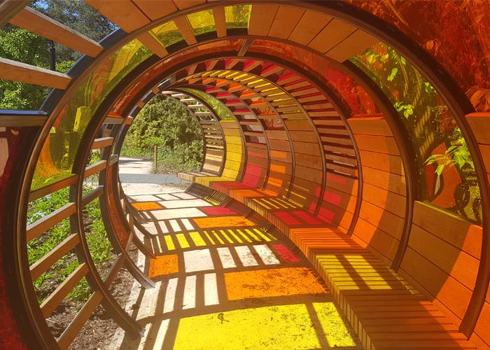 Handspring Design - Kew Gardens Childrens Playground - Tunnel Hoop Shelter